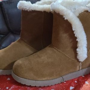 Womens brown suede winter boots